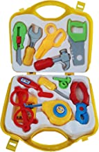 Amitasha Mechanic Suitcase Tools Set for Kids (Multicolour) - (Pack of 12 Tools)