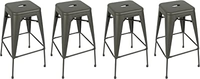 Amazon Com Btexpert Bar Stool Industrial Metal Vintage