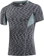 AiJump Herren Kompression Funktionsshirts Under Base Layer Sportlich Fitness T-Shirt Muskelshirt