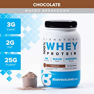 Bodybuilding Signature 100% Whey Protein Powder   25g of Protein per Serving (Chocolate, 2 Lbs)