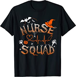 Nurse Squad Cute Halloween Tee T-Shirt