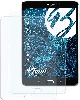 Bruni Skärmskydd är kompatibel med Samsung Galaxy Tab S2 8.0 SM-T710 Film, kristallklart Skyddsfilm (2X)