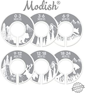 Modish Labels Baby Nursery Closet Dividers, Closet Organizers, Nursery Decor, Baby Boy, Baby Girl, Gender Neutral, Woodland, Tribal, Woodland Animals, Bear, Fox, Deer, Gray, Grey, White (Gray)