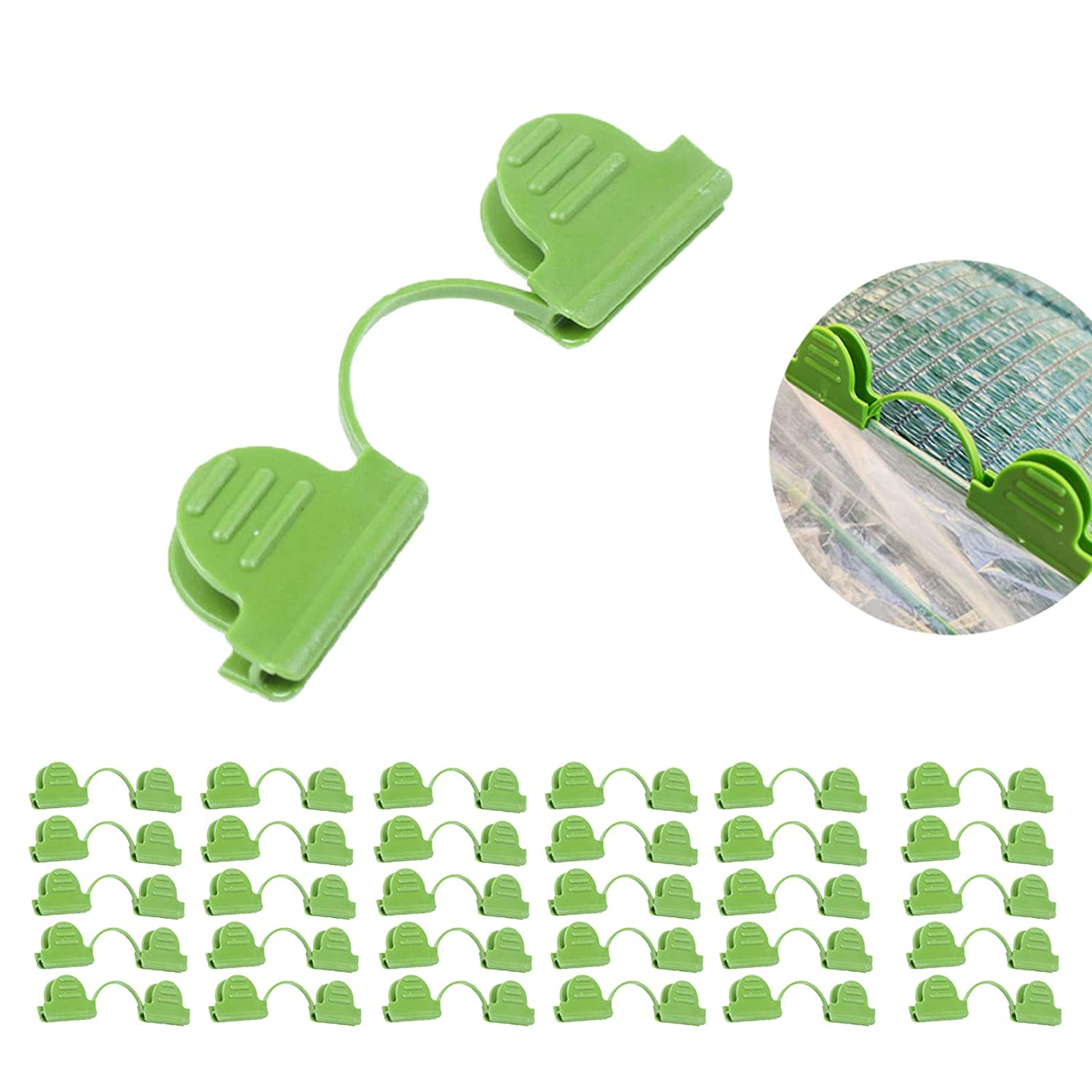 Film Insect Net Fixing Clips for Greenhouse Tunnel Shading Net LWAN3 30pcs Pipe Clamps for Diam 4mm 6mm Plant Stakes