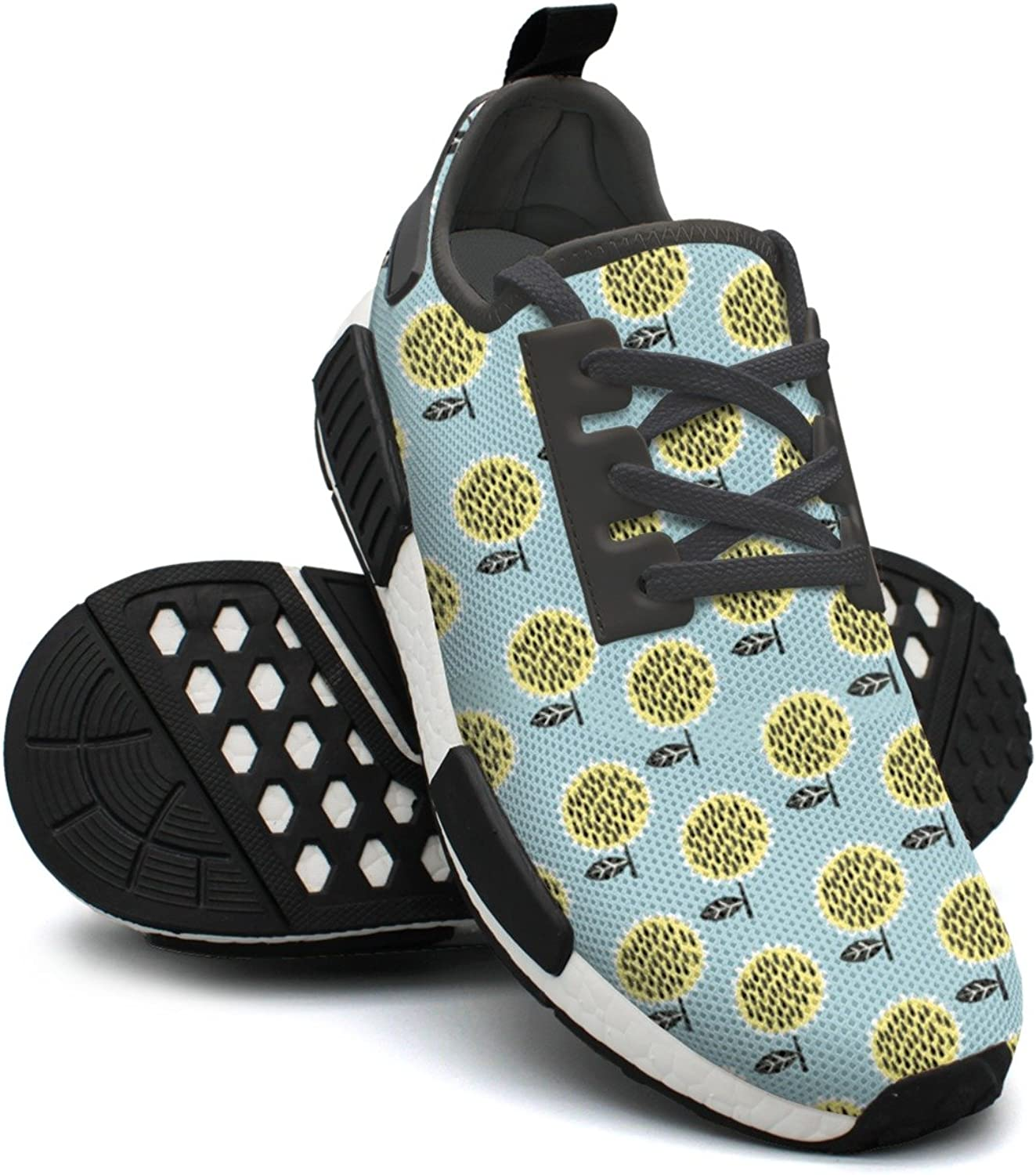 Tiny Sunflower Floral Women's Novelty Lightweight Basketball Sneakers Gym Outdoor Running shoes