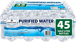 Member's Mark Purified Bottled Water (Pack of 45) 16.9 Fl Oz, 760.5 Fluid Ounce