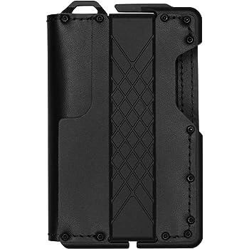 MURADIN Dapper Leather Bifold Wallet – Genuine Tactical Wallet – Minimalist Card Wallet for Men – RFID-Blocking Aluminum Metal Slim Wallet (Black)