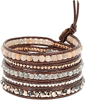 Chan Luu Womens Sunstone Mix Wrap Bracelet