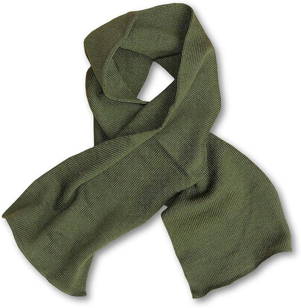 US Army Genuine GI USMC Military Winter Neckwear Olive Drab OD Green Wool Scarf