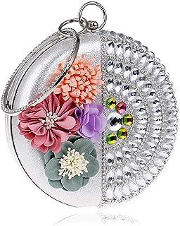 Fine Bag/Womens Glitter Clutch Bag Bling Evening Bridal Prom Party Handbag Purse Banquet Bag (Color : Silver, Size : Oneszie)