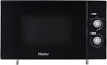 Haier HSA 2280 MGB Encimera 22L 800W Negro - Microondas (Encimera, 22 L, 800 W, Giratorio, Negro, 1100 W)