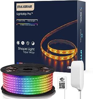 Maxonar LED Strip Lights Works with Alexa (16.4Ft/5M)...