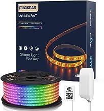 Maxonar LED Strip Lights Works with Alexa (16.4Ft / 5M) WiFi Wireless Light Strips RGB Multicolor Waterproof IP65 Smart Ph...