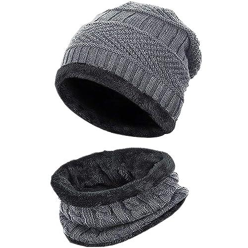 174d19c764c Chalier Mens Winter Warm Knitting Hats Wool Baggy Slouchy Beanie Hat Skull  Cap