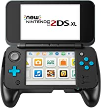 Keten Hand Grip Compatible with Nintendo New 2DS XL Console, Anti-Slip Controller Grip with Stand for NEW 2DS XL/LL 2017 (Black)