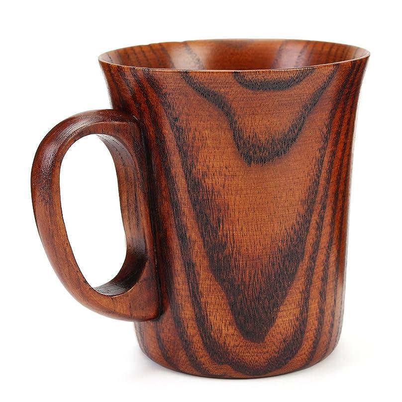 楽観的違反韻持ちやすい コーヒー マグカップ お茶 コップ天然木製カップ 400ML