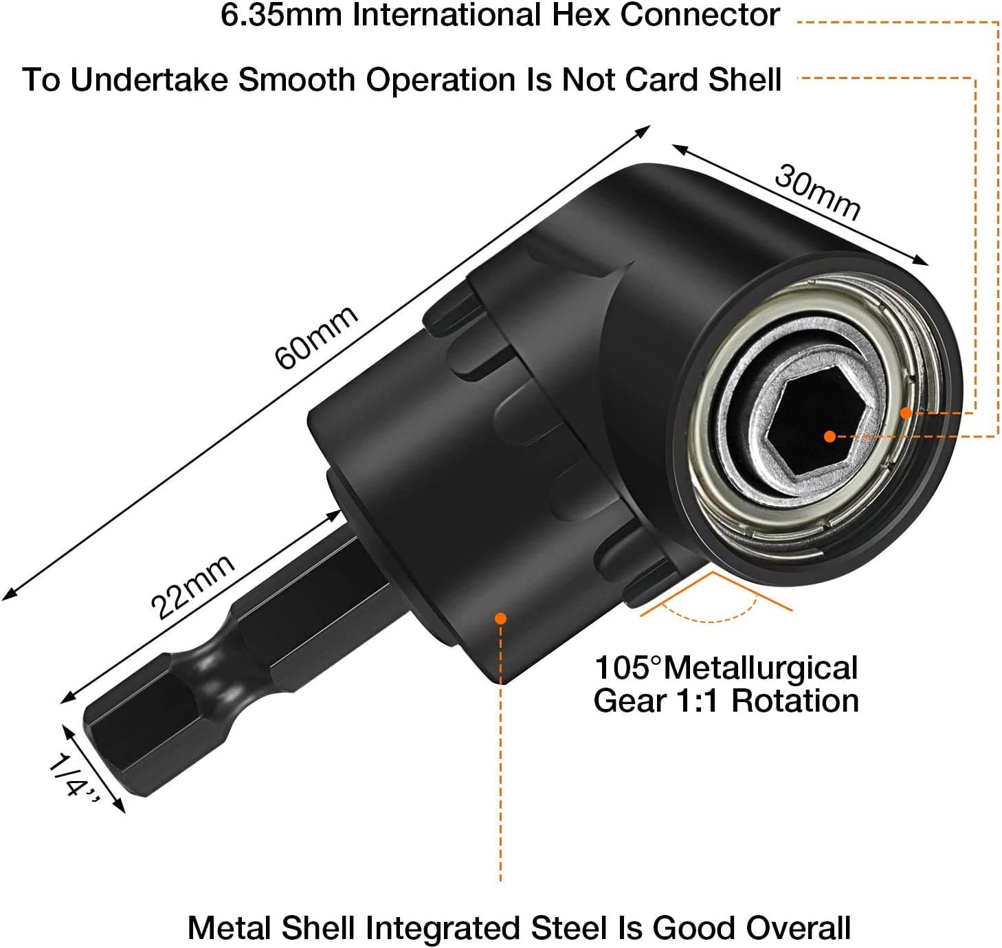 105 Degree Right Angle Driver Extension Screwdriver Drill Attachment+Universal Socket Adapter Set,1//4 3//8 1//2 Impact Grade Socket Wrench Adapter Extension Set,Drill Extension,Drill Hex Bit Set