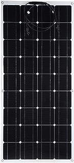 Solpanel, 120W 18V bärbar monokristallin solpanelmodul med frontkabel för husbilar, flygplan utomhusbruk