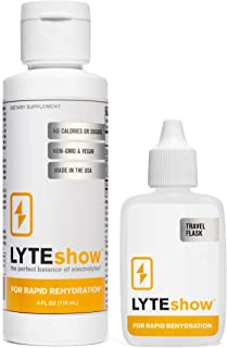 LyteShow Sugar-Free Electrolyte Supplement for Hydration and Immune Support - 40 Servings - Keto Friendly - Zinc and Magne...