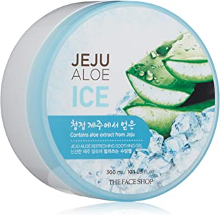 The Face Shop Jeju Aloe Ice Refreshing Soothing Gel 300 Ml, 300 ml