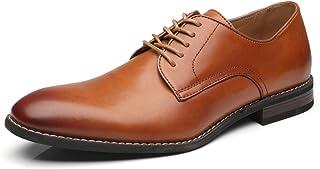 La Milano Men Dress Shoes Lace-up Leather Oxford Classic Modern Formal Business Comfortable Dress Shoes for Men Size: 10.5