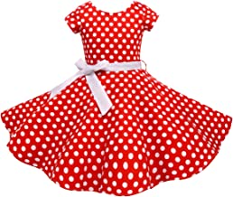 Vintage Girls Dresses Polka Dot Swing Rockabilly Dresses for Girls for Party Special Occasion