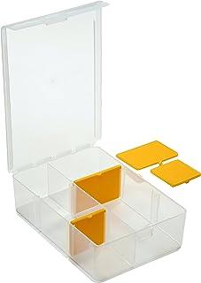 SBS Sortimentskasten - Sortierkasten - Sichtbox - Kleinteilebox - mit 4 Trennstegen zur individuellen Aufteilung - transparent - sehr robust