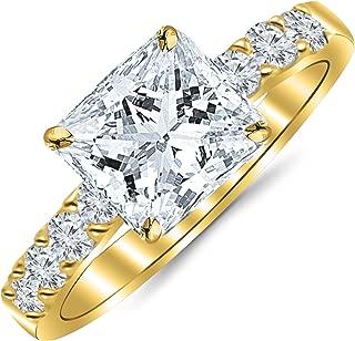 Best yellow gold princess cut diamond anniversary ring Reviews