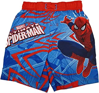 c29ca3c2bf Marvel Little Boys Red Blue Ultimate Spiderman Adjustable Swim Shorts 2-4T