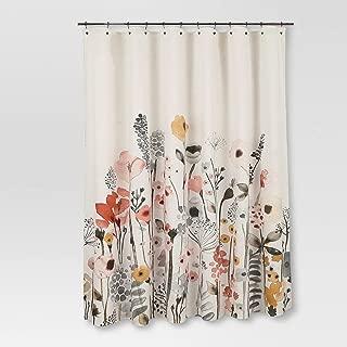 Threshold Floral Wave Shower Curtain 100% Cotton 72