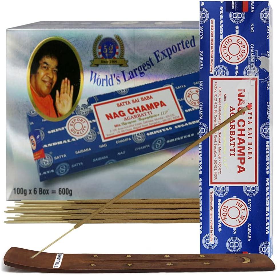 Nag Champa Incense Sticks And Incense Stick Holder Bundle Insenc