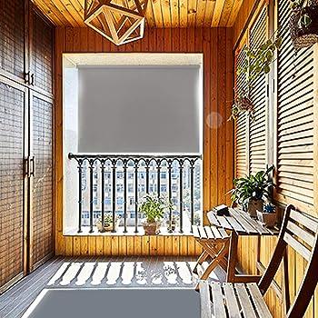 HENGMEI 100x140cm Estor Toldo protección contra el Viento Vertical Persiana Enrollable para balcón, Exterior, Gris: Amazon.es: Hogar