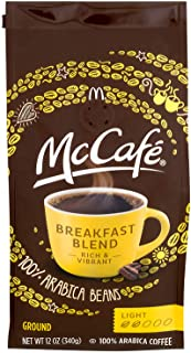 McCafe Breakfast Blend Light Roast Ground Coffee (12 oz Bags, Pack 6)