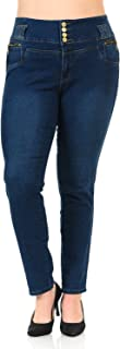 Pasion Women's Jeans - Plus Size - High Waist - Push Up - Style N343