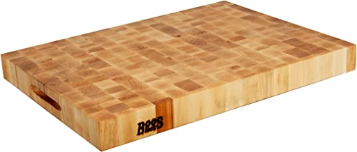 John Boos Block CCB2418-225 Classic Reversible Maple Wood End Grain Chopping Block, 24 Inches x 18 Inches x 2.25 Inches