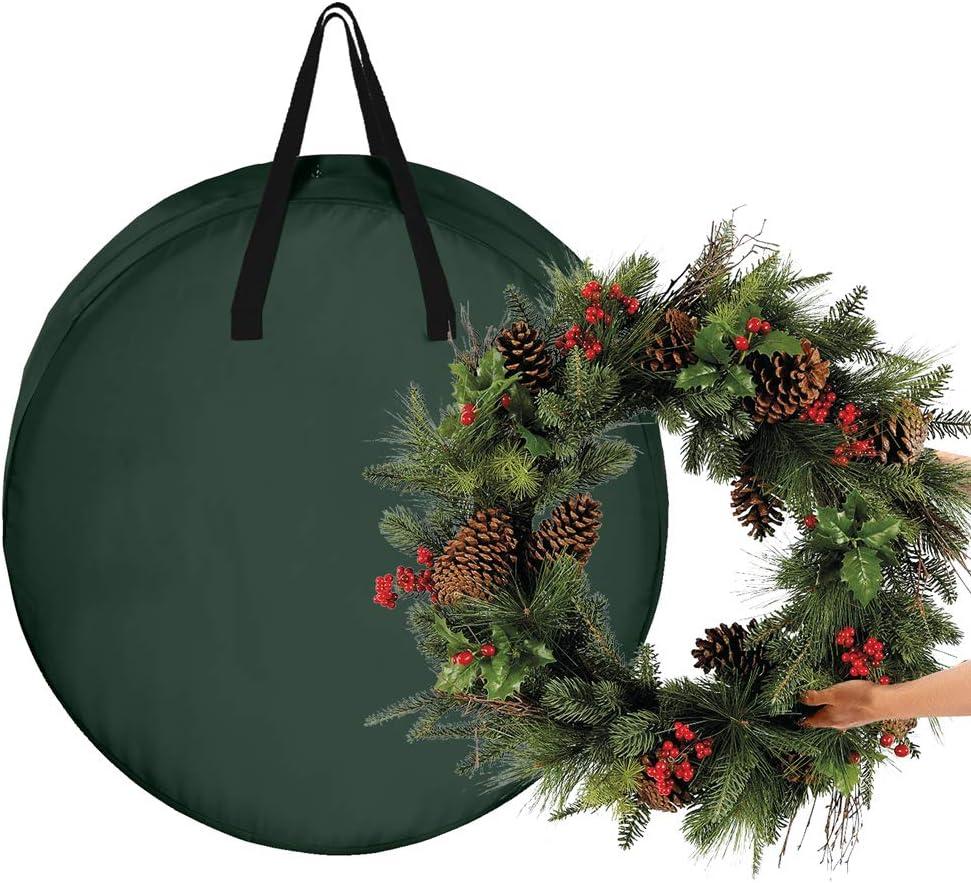 ADSRO Christmas Wreath New Chicago Mall mail order Storage Ba Garland Bag Artificial