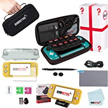 Complete Starter Kit for Nintendo Switch Lite with Tempered Glass Screen Protector,..