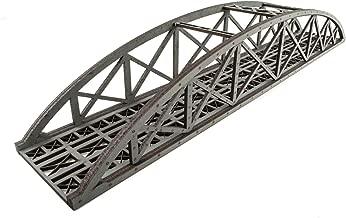 War World Scenics Single Track Hi-Detail Grey Bowstring Bridge 560mm – OO/HO Model Railway Diorama