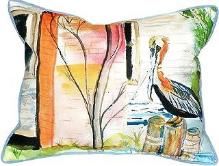 "Betsy Drake SN036 Betsy's Pelican Pillow, 11"" x14"""