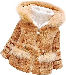 Baby Girls Infant Winter Knited Fur Outerwear Coats Snowsuit Jackets