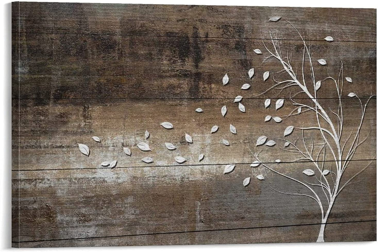 NEW DANIMAMA White Tree ! Super beauty product restock quality top! Branch with Leaves Wood Background on Style