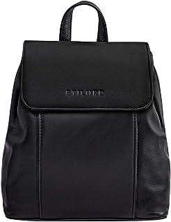 """STILORD Fiona"""" Daypack Rucksack Damen Leder Klein für City Shopping Freizeit iPad 9.7 Zoll Vintage Rucksackhandtasche aus Echtem Leder"""