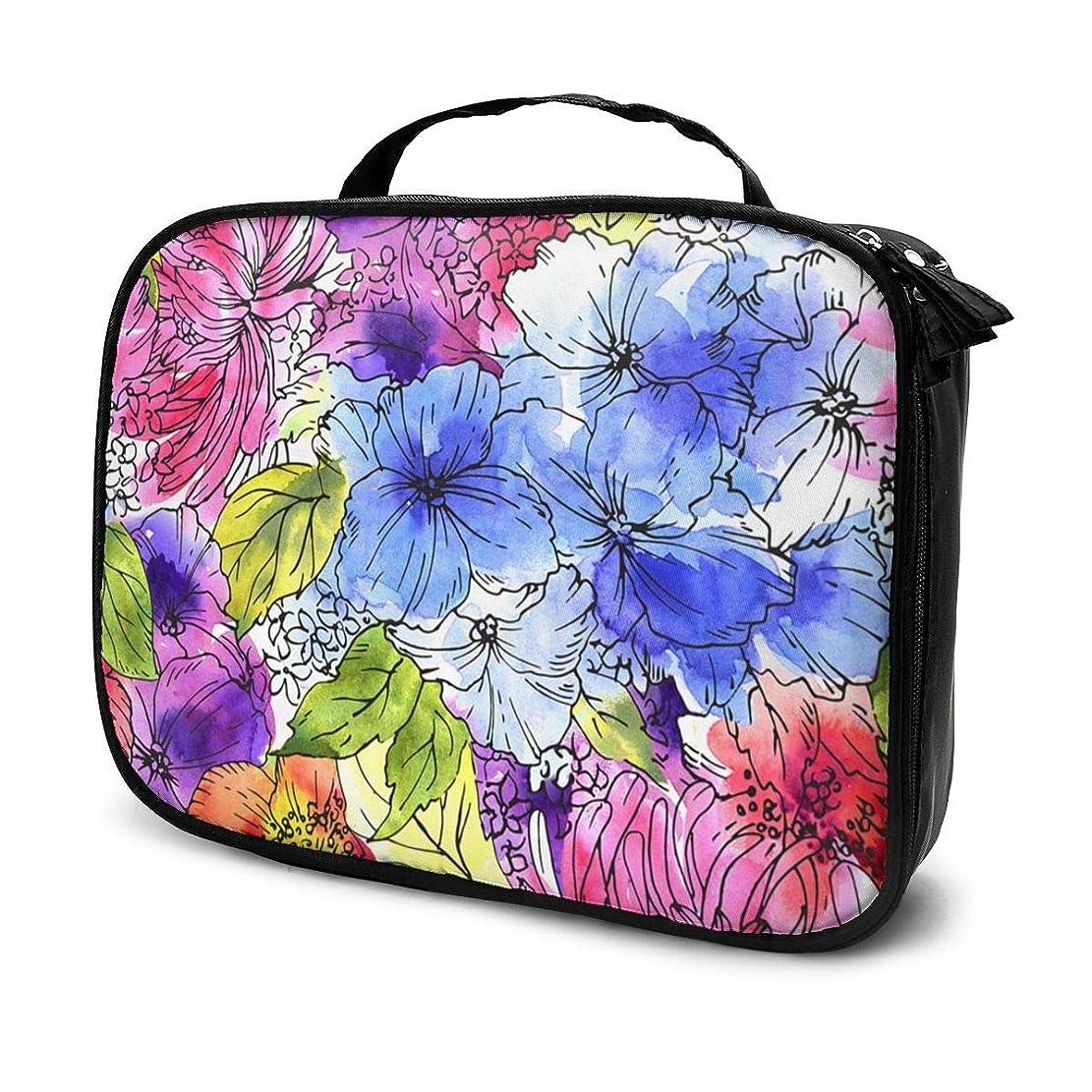 指説明タイプライター収納袋抽象的な花化粧品袋耐摩耗性軽量ポータブル高品質大容量旅行ポーチバスルームポーチ旅行小物整理約8×25×19cm