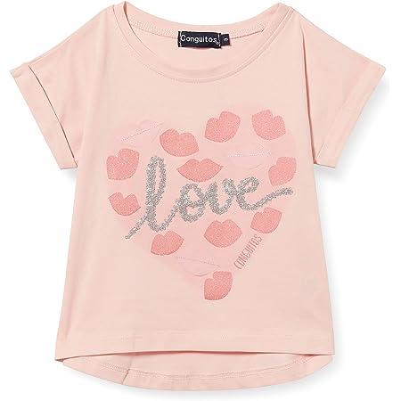 Conguitos Elegance Camiseta, Rosa, Normal para Niñas