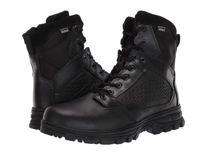 5.11 Tactical  Evo 6 Waterproof with Side Zip (Black) Mens Work Boots