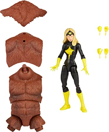 Hasbro Marvel Legends Series 6-inch Darkstar Action Figure Toy, Premium Design and Articulation, Includes 2 Accessories and 1 Build-A-Figure Part