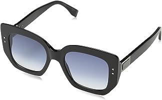 نظارات شمسية سوننبريل للنساء من فيندي FF0267S-80708-51 اسود (شوارز)، 58
