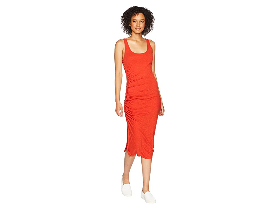 Three Dots Eco Knit Dress (Red Clay) Women