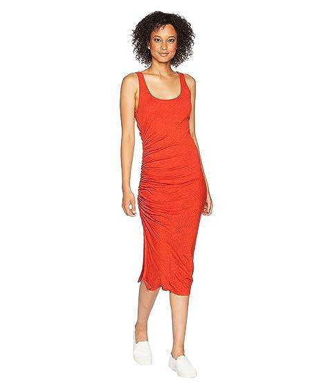 THREE DOTS Eco Knit Dress, Red Clay
