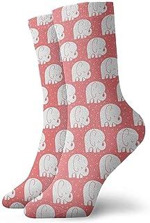 iuitt7rtree Calcetines lindos del tobillo del elefante ocasionales divertidos para las botas deportivas que caminan corrie...